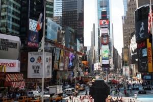 Werbung auf dem Times Square